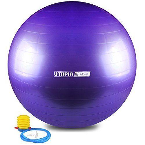 Yoga Exercise Fitness Pilates Total Body Balance Ball Anti Burst Slip Resistant #ExerciseBall