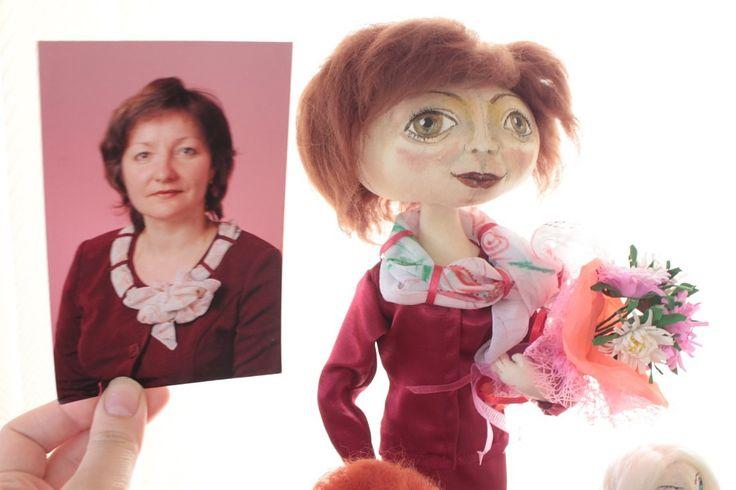 портретно-шаржевые куклы от Ольги ивановой