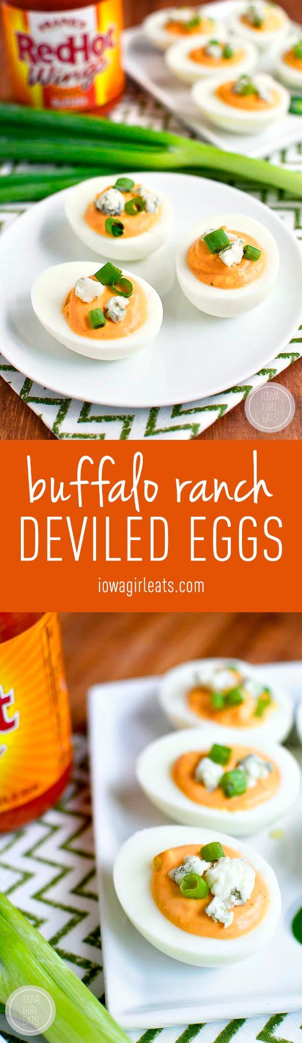 Buffalo Ranch Deviled Eggs are truly devilish-tasting thanks to spicy buffalo wing sauce and cooling ranch dressing in the mix!