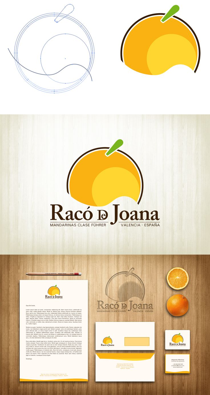 "Branding and corporate guidelines for Orange export Company called ""Racó de Joana"".  Javier Pavón (2014)  #design #diseño #branding"
