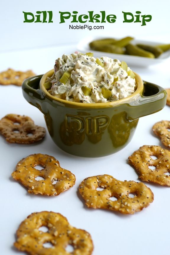 Dill Pickle Dip Ingredients 1 (8 oz) package cream cheese, softened 1/3 cup diced red onion 1/4 cup pickle juice 2 teaspoons finely chopped garlic 1 teaspoon Old Bay seasoning 1 teaspoon coarse ground pepper 2 cups diced pickles Directions In a large bowl add cream cheese, red onion, pickle juice, garlic, Old Bay seasoning and pepper. Combine with a hand mixer. Add pickles and continue mixing until fully combined. Refrigerate at least 3 hours and up to three days before serving