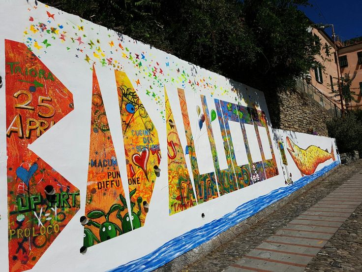 Nuovo murale di BADALUCCO  il paese dipinto, Street art italia