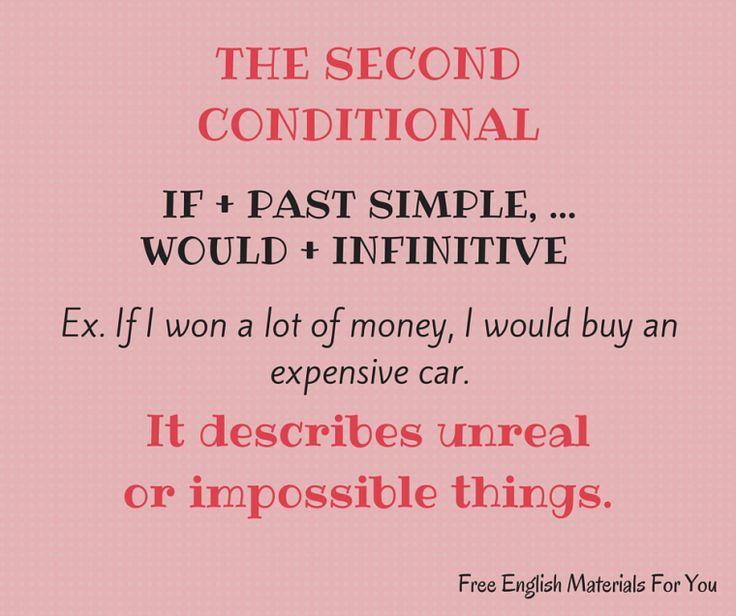 #secondconditional - #English #Grammar - #FreeEnglishMaterialsForYou #conditionals #learning English