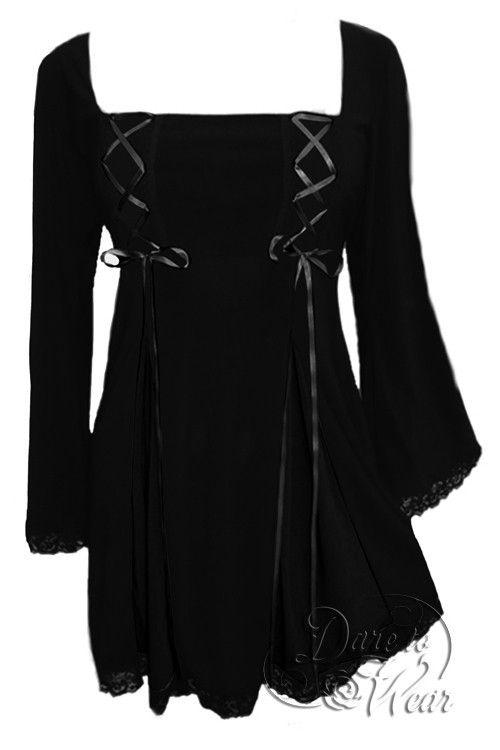 Dare To Wear Victorian Gothic Women's Gemini Princess Corset Top Black
