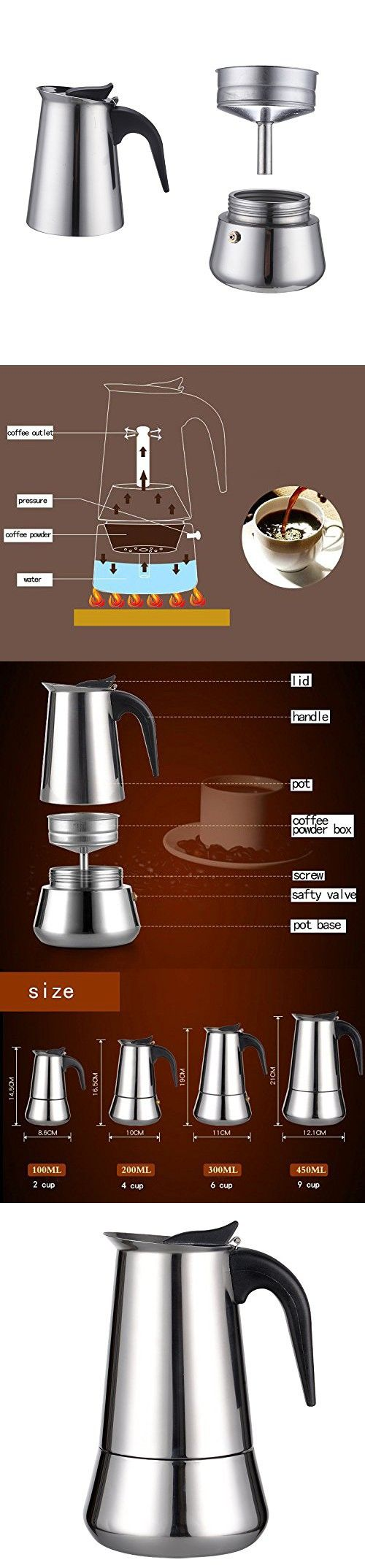1000+ ideas about Stainless Steel Coffee Maker on Pinterest Red Coffee Maker, Glass Coffee ...