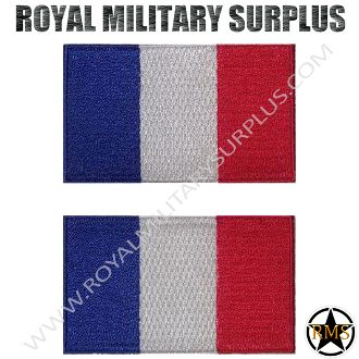 "Patch - Flag Set (National) - France - FRANCE (National Flag Set) Army/Military/Police Design 2 Patches Included Size: (2.5""x1.5"" / 6.5 CM x 4 CM) Velcro Set Included BRAND NEW WWW.ROYALMILITARYSURPLUS.COM"
