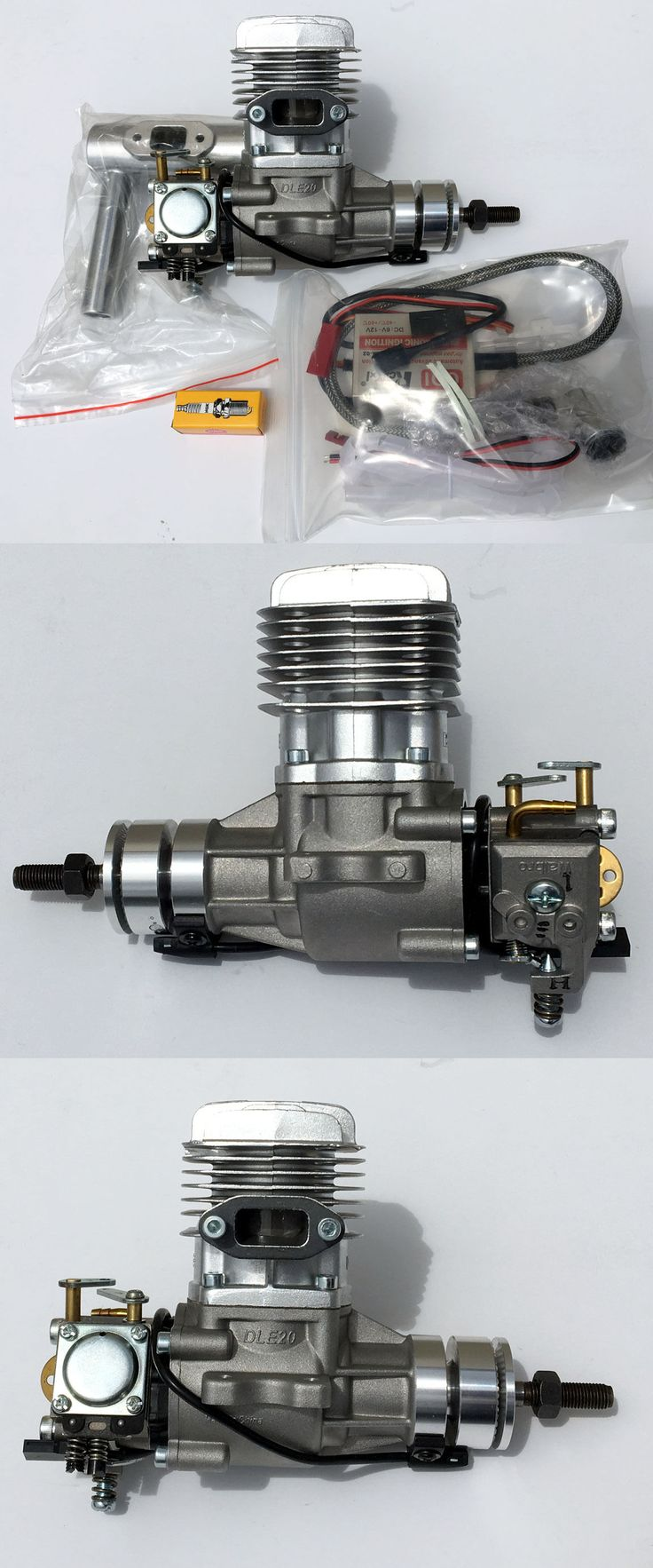 Harley manages to fit all the complex electronics and emissions gear - Gas Nitro Engines 182189 Dle20 20cc Gasoline Engine W Electronic Igniton And Muffler New
