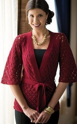 "Blouse ""Kimono"" Crochet - Free Pattern 