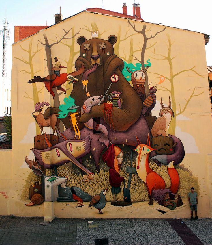 Dulk creates a new mural for Asalto Festival in Zaragoza, Spain