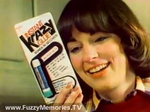 "Krazy Glue - ""Let Krazy Glue Do It!"" (Again) (Commercial, 1981) Here's another commercial for Krazy Glue, which shows the many ways how broken objects can be repaired.  (C) 1978 Krazy Glue, Inc.  ""Krazy Glue can do it to it!""  This aired on local Chicago TV on Saturday, January 17th 1981. (1978 Copyright)"