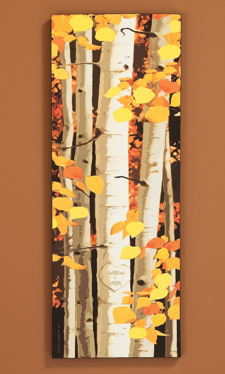 Personalized Aspens Print. get two names carved in a heart on the Aspen trees.