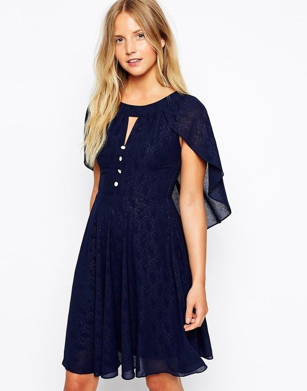 This Traffic People embellished cape dress ($85.28) , because it's like dressing for a ren faire without going full-on.
