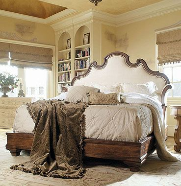 wood and upholstery bed. Caperana  749 146 Upholstered headboard with wood trim 45 best Chic Beds images on Pinterest Hickory chair