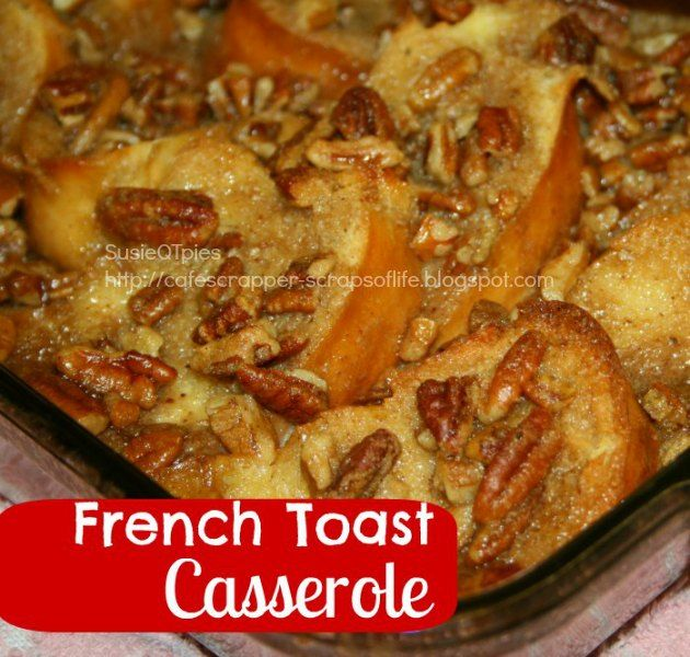 This French Toast Casserole is in my Top foods for 2012. It is always a hit and easy to make.