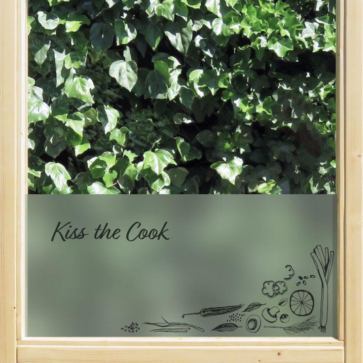 statische raamfolie • Kiss the cook | statische raamfolie | Uniquewinkel