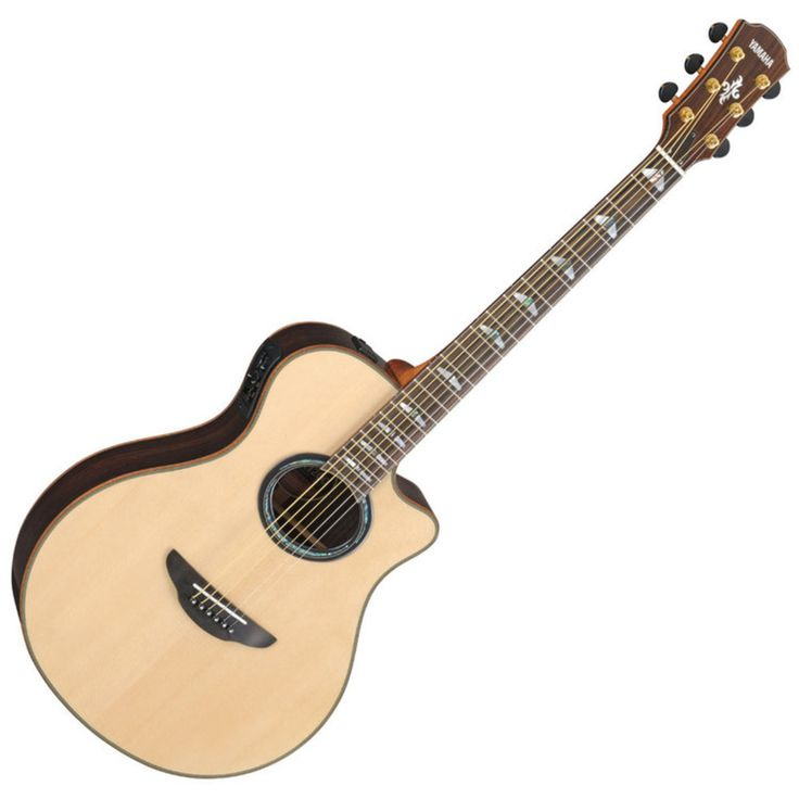 Yamaha APX1200 Electro Acoustic Guitar Natural: APX series highly evaluated for its playability on stage is now available with all solid…
