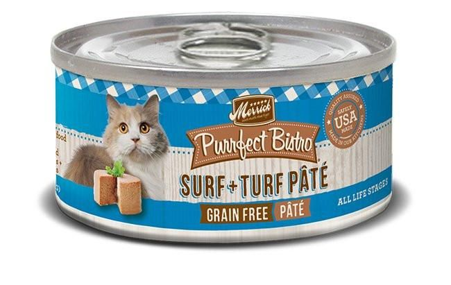 Merrick Purrfect Bistro Surf N Turf Can Cat Food 24/5.5oz