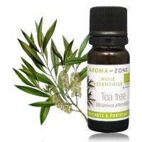 Huile essentielle de Tea tree : antiseptique, désinfectant des plaies (même ouvertes). Après avoir débarrassé la plaie de ses souillures (cailloux, fibres, poussières) on désinfecte avec quelques gouttes d'HE de Tea tree.