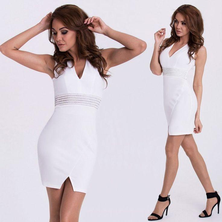 Fehér díszes alkalmi ruha