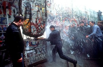 November 9th 1989 The Berlin Wall came down.