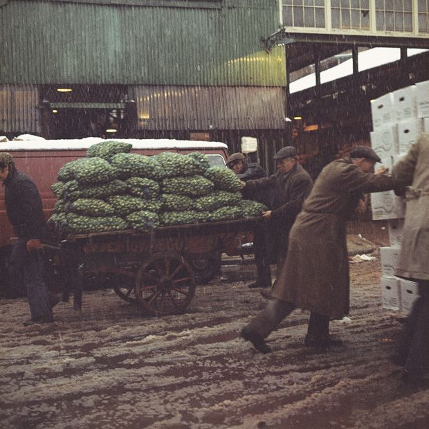 Old Covent Garden market around 1970. Photograph by Clive Boursnell.