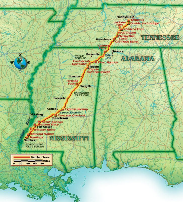 Natchez Trace Parkway Guide Rv For Cheap Hiking Trails