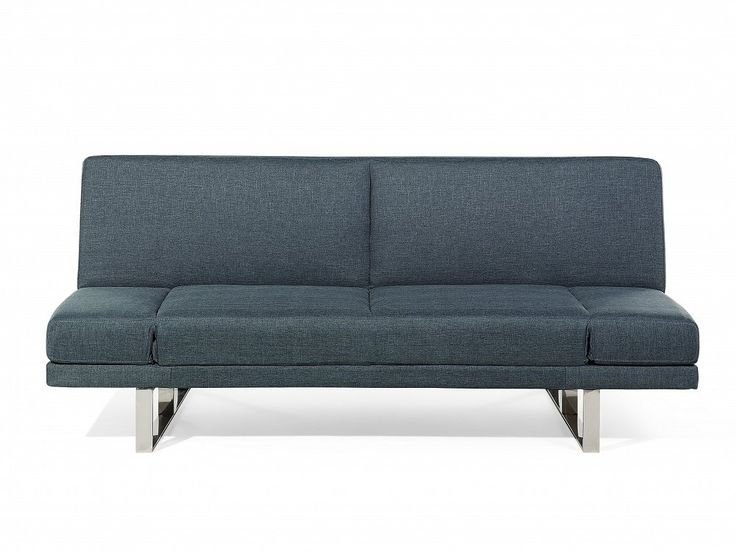 An upholstered reclining convertible sofa bed in a soothing grey blue colour. Not only multifunctional but also elegant. Check Beliani UK for more design inspirations www.beliani.co.uk! #beliani #moderninteriorsdesign #sofabeds #sofa #bedroom #livingroomideas #couch #sofabed