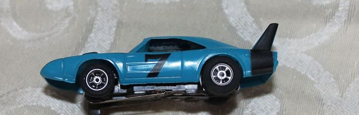 Aurora AFX  Dodge Dayton Superbird Blue #7 Vintage HO Slot Car