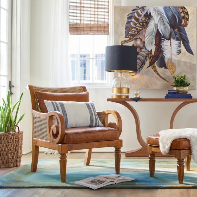 Bermuda Teak Chair Ottoman Indoor Rattan Furniture Furniture