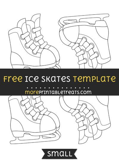 free ice skates template small 3 5yrs pinterest templates