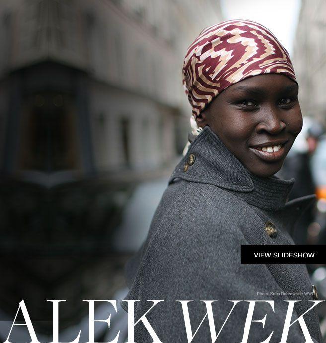 Alek Wek - just gorgeous.
