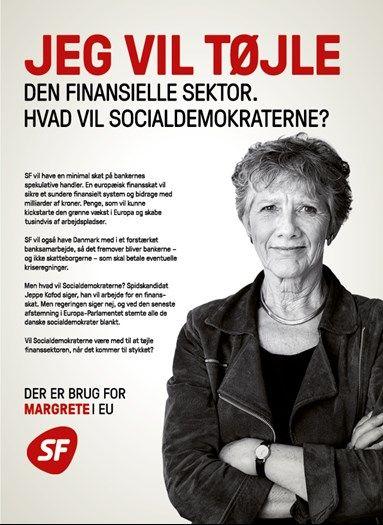 SF Valgplakat fra EP Valg