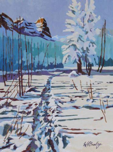 "WJ Bradley CANMORE, WINTER SKETCH 1 / Canada House Gallery - oil, board 16"" x 12"""