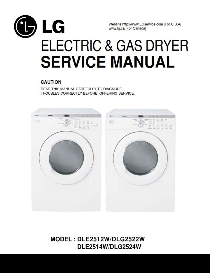 lg dle2512w dlg2522w dle2514w dlg2524w dryer service manual lg Elite Screen Wiring Diagram lg dle2512w dlg2522w dle2514w dlg2524w dryer service manual lg dryer service manuals appliance repair, dryer, installation instructions
