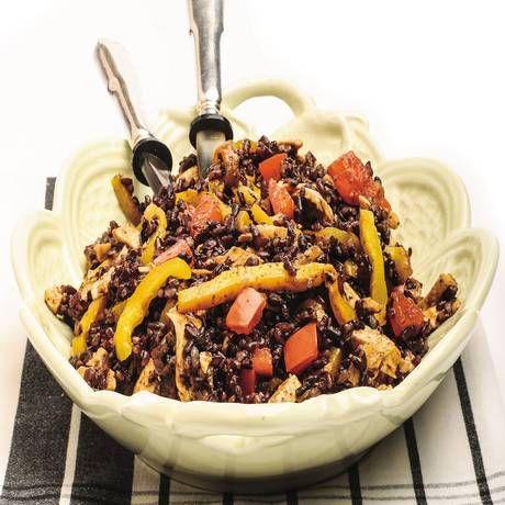 Ricetta Insalata di riso venere con pollo e verdure