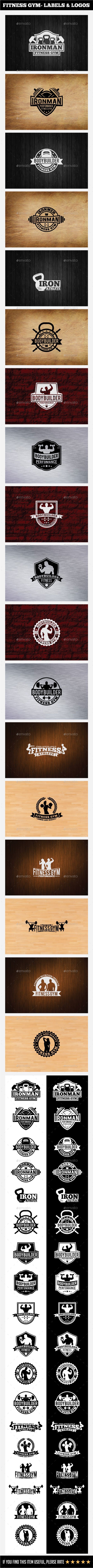 Fitness Gym - Labels & Logos - Badges & Stickers Web Elements                                                                                                                                                                                 More