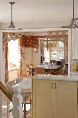 """Sarah's House"", the farmhouse ~ the view from the stairway through the kitchen to the dining room... helps put the layout in perspective"