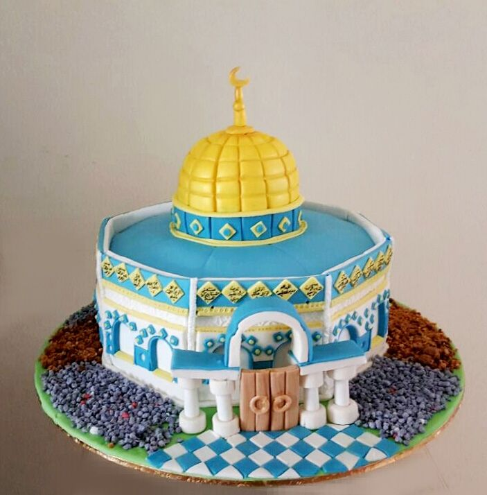 QUDS MOSQUE QBET AL SAKHRA CAKE  مسجد قبة الصخرهك بالقدس  كيك