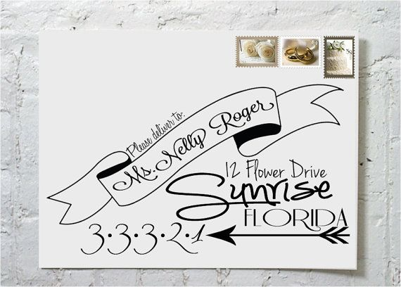 The Steph Dashingly Chic Calligraphy Envelope by ilulily on Etsy, $3.00