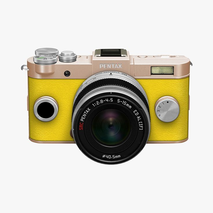 Yellow Pentax camera