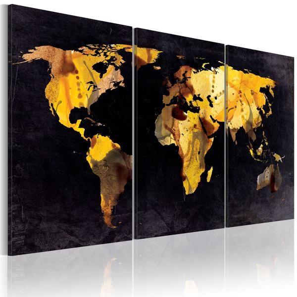 Quadro - Mappa del mondo: sabbie moventi