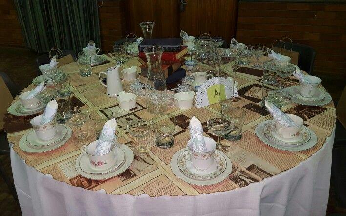Vintage articles tablecloth