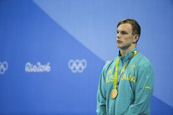 TWA-0050946 © WestPix 2016 Rio Olympics. Rio de Janeiro, Brazil. Swimming day 5, Olympics Aquatic Stadium. Kyle Chalmers takes out the Gold in the 100m freestyle. Picture: Simon Santi The West Australian