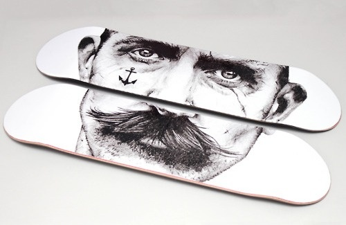 dailycoolmag:    Awesome skateboard art.