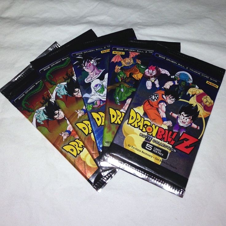 5 Packs of Dragonball Z Movie Collection Trading Card Game Packs, 2015.  | eBay