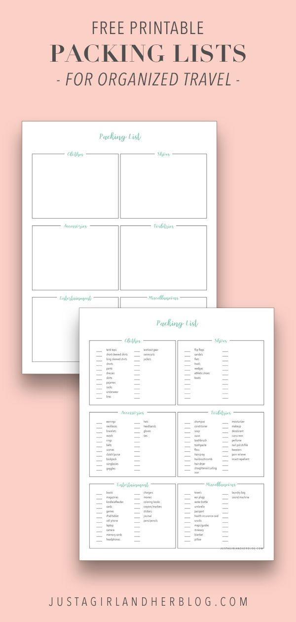 Free Printable Packing List for Organized Travel The GROUP BOARD