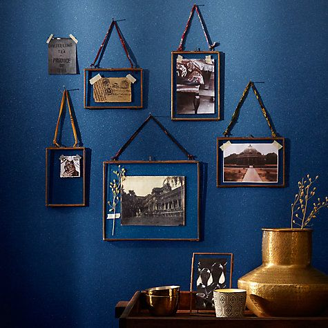 Nkuku vintage style brass and zinc photo frames from John Lewis, £15-22
