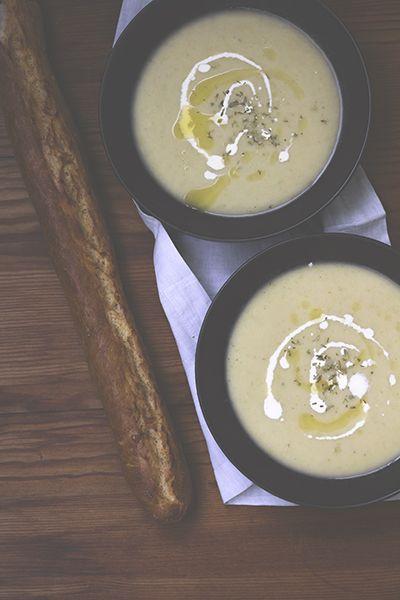 Feines Gemüse – Vichyssoise –Kalte Suppe aus Kartoffeln und Lauch