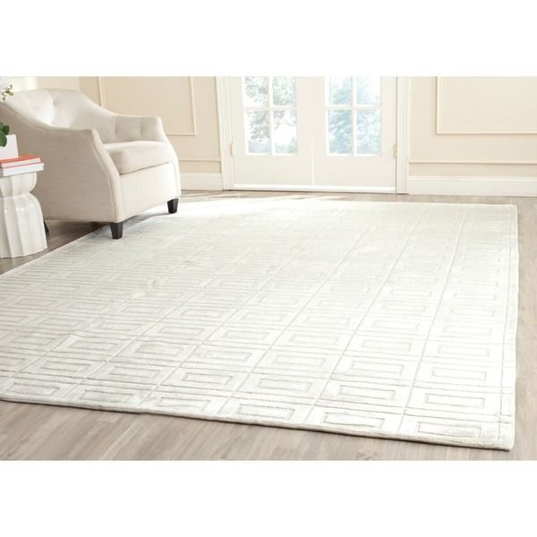 Safavieh Hand-knotted Mirage Pearl White Viscose Rug (6' x 9')