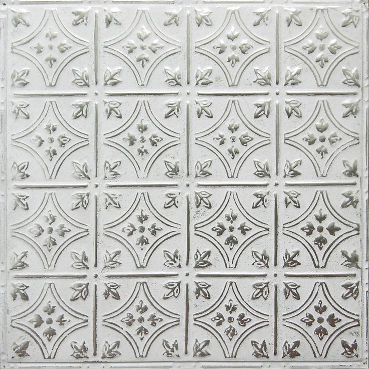 American Tin: Pattern #3 in Silver Washed White for backsplashes, ceilings, walls, and DIY projects
